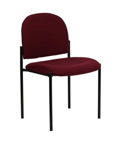 Burgundy Fabric Comfortable Stackable Steel Side Chair [BT-515-1-BY-GG] FLFBT-515-1-BY-GG