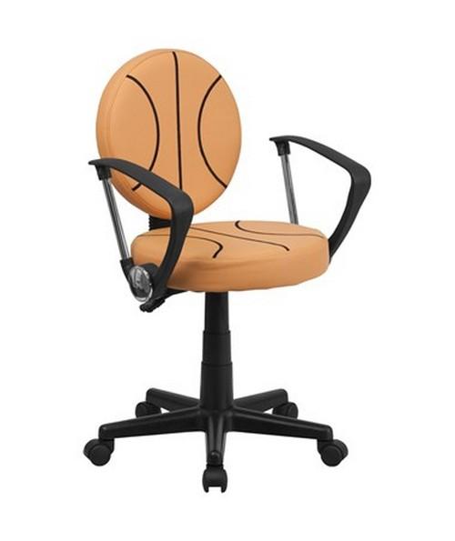 Basketball Task Chair with Arms [BT-6178-BASKET-A-GG] FLFBT-6178-BASKET-A-GG