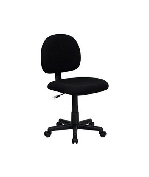 Mid-Back Ergonomic Black Fabric Task Chair [BT-660-BK-GG] FLFBT-660-BK-GG