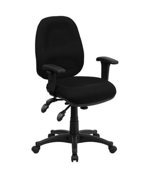 Mid-Back Multi-Functional Black Fabric Swivel Computer Chair [BT-662-BK-GG] FLFBT-662-BK-GG