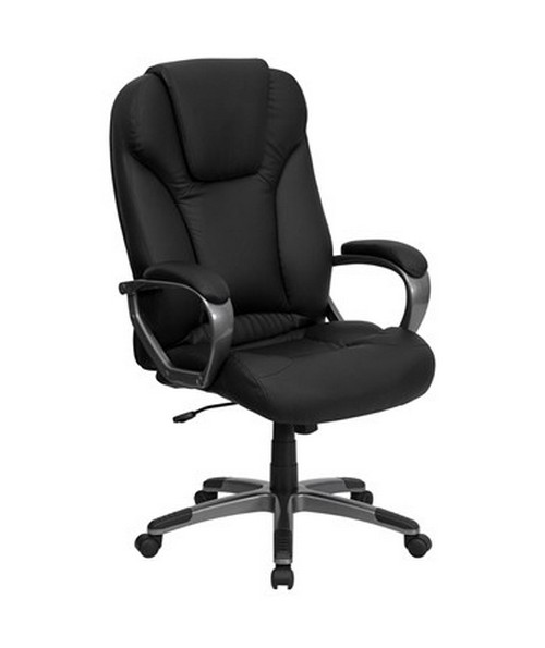 High Back Black Leather Executive Office Chair [BT-9066-BK-GG] FLFBT-9066-BK-GG