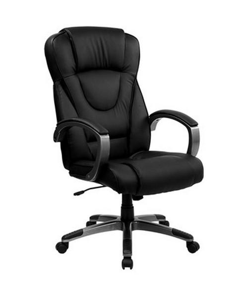 High Back Black Leather Executive Office Chair [BT-9069-BK-GG] FLFBT-9069-BK-GG
