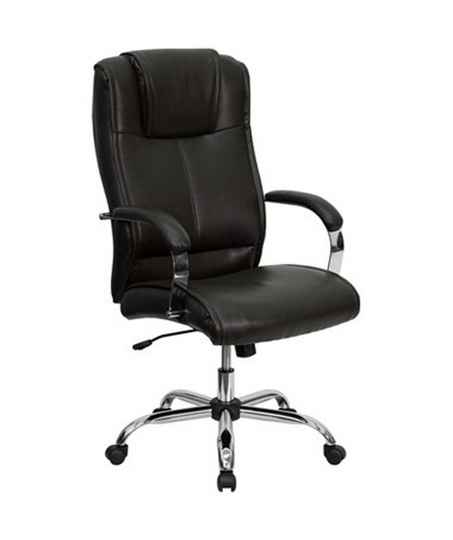 High Back Brown Leather Executive Office Chair [BT-9080-BRN-GG] FLFBT-9080-BRN-GG