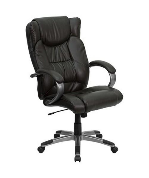 High Back Espresso Brown Leather Executive Office Chair [BT-9088-BRN-GG] FLFBT-9088-BRN-GG