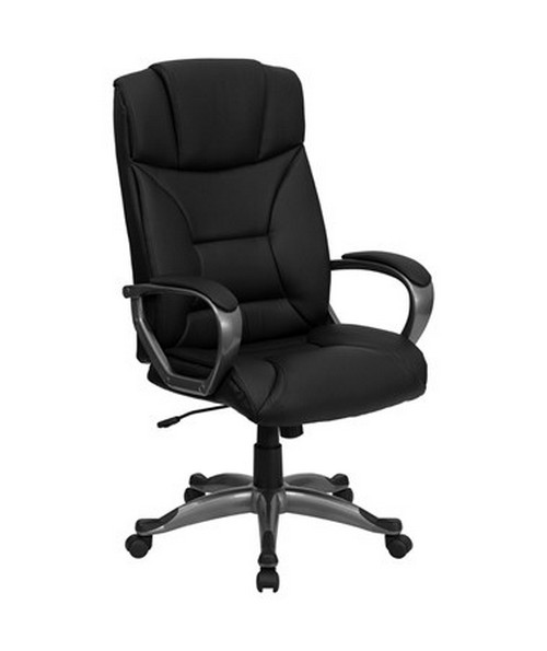 High Back Black Leather Executive Office Chair [BT-9177-BK-GG] FLFBT-9177-BK-GG
