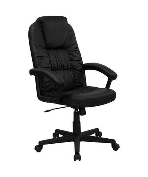 High Back Black Leather Executive Swivel Office Chair [BT-983-BK-GG] FLFBT-983-BK-GG