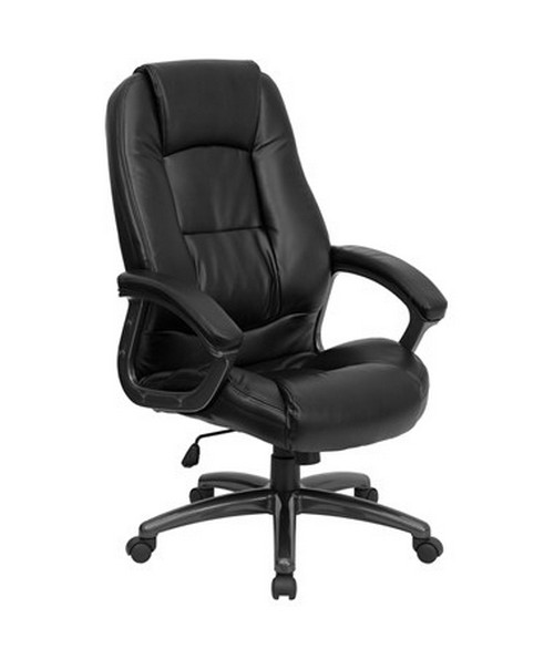 High Back Black Leather Executive Office Chair [GO-7145-BK-GG] FLFGO-7145-BK-GG