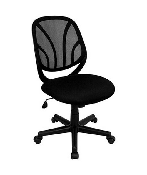 Y-GO Chair™ Mid-Back Black Mesh Computer Task Chair [GO-WY-05-GG] FLFGO-WY-05-GG