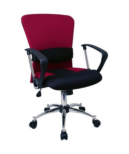 Mid-Back Burgundy Mesh Office Chair [LF-W23-RED-GG] FLFLF-W23-RED-GG