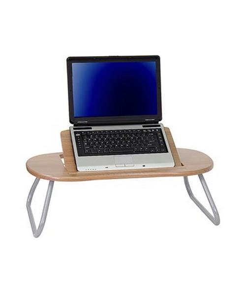 Angle Adjustable Laptop Computer Table with Dark Natural Top [NAN-JN-2779-GG] FLFNAN-JN-2779-GG