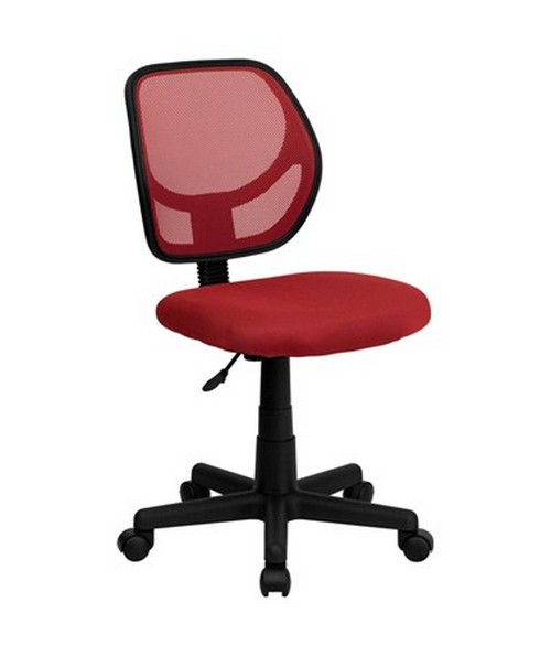 Mid-Back Red Mesh Task Chair and Computer Chair [WA-3074-RD-GG] FLFWA-3074-RD-GG
