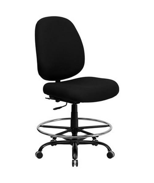 Flash Furniture Hercules Heavy Duty Drafting Chair WL-715MG-BK-D-GG