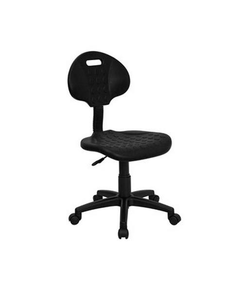 ''Tuff Butt'' Soft Black Polypropylene Utility Task Chair [WL-908G-GG] FLFWL-908G-GG