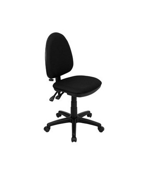 Mid-Back Black Fabric Multi-Functional Task Chair with Adjustable Lumbar Support [WL-A654MG-BK-GG] FLFWL-A654MG-BK-GG