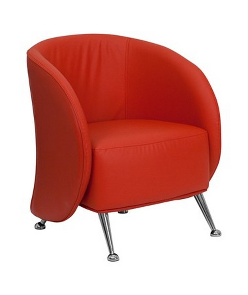 HERCULES Jet Series Red Leather Reception Chair [ZB-JET-855-RED-GG] FLFZB-JET-855-RED-GG