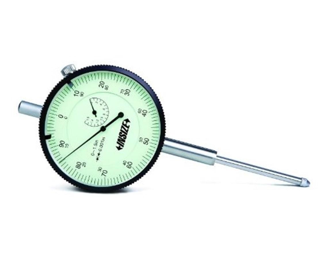 InSize Large Face Long Range Dial Indicator Inch Bezel INS2312