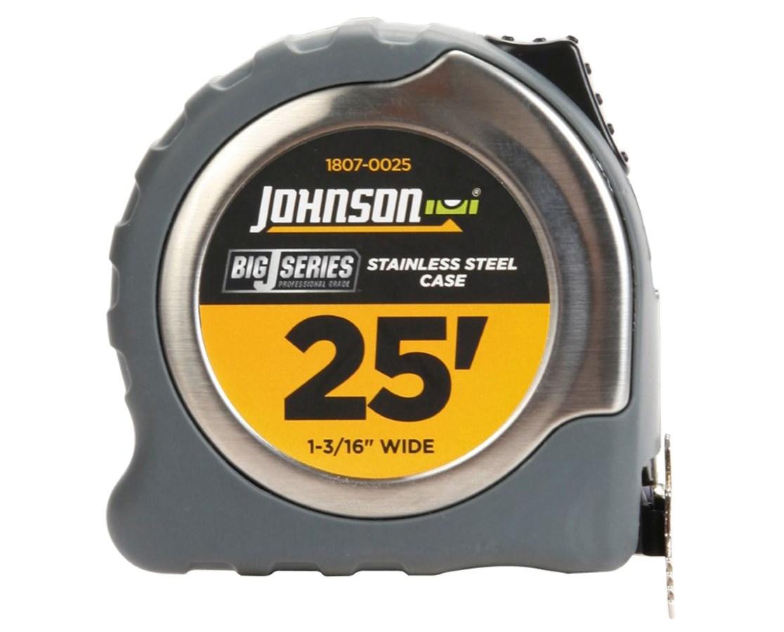 "Johnson Level 25' X 1-3/16"" Big J Power Tape JOH1807-0025"