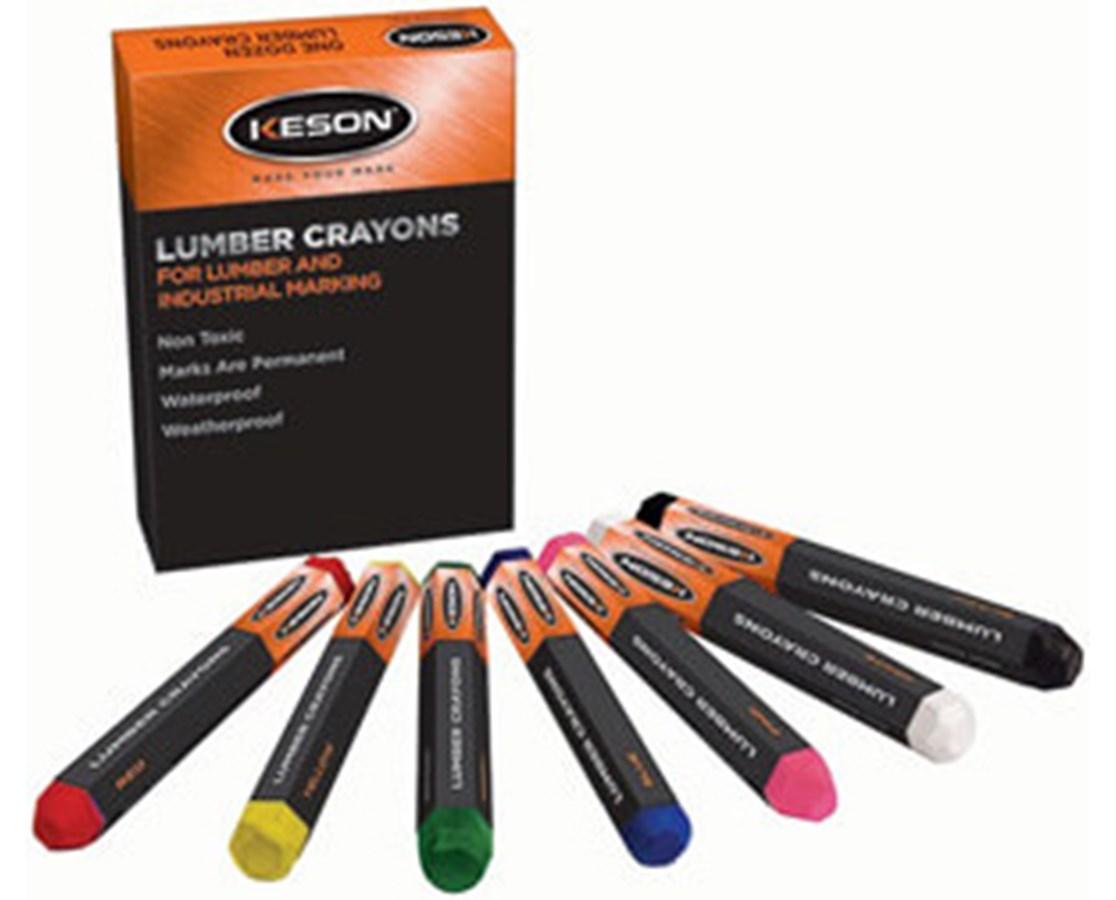 Keson Hard Lumber Crayon KESLCBLACK-