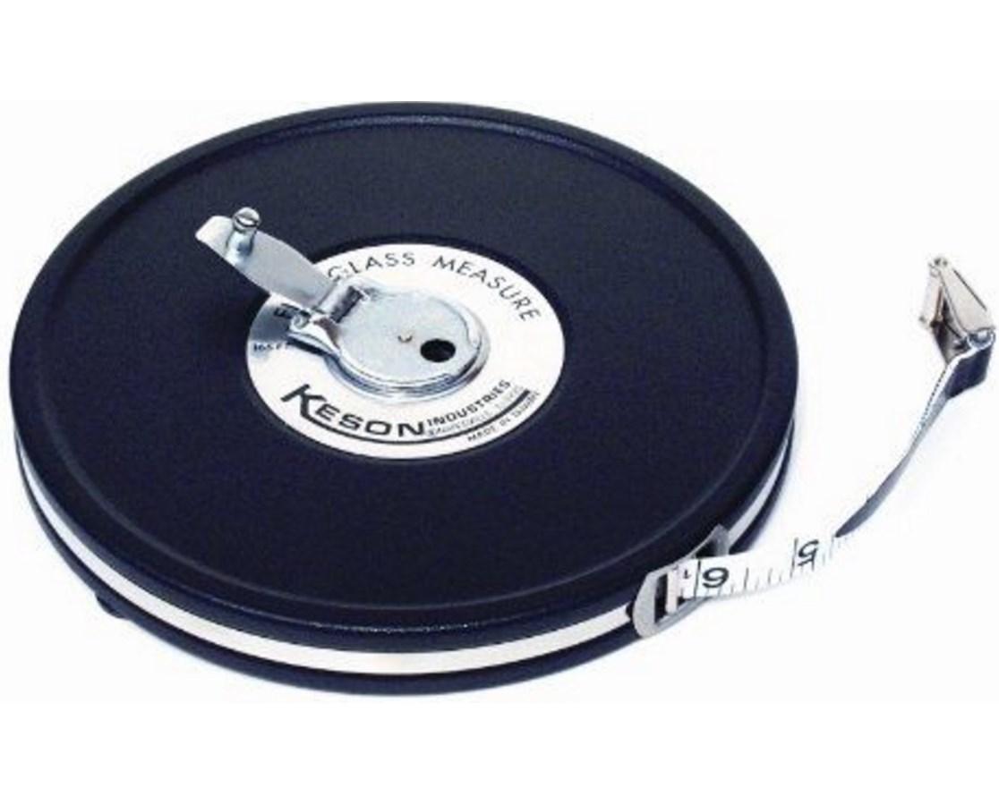 Keson Black-Metal Case 2-Sided 50-Foot Fiberglass Tape KESMC181050