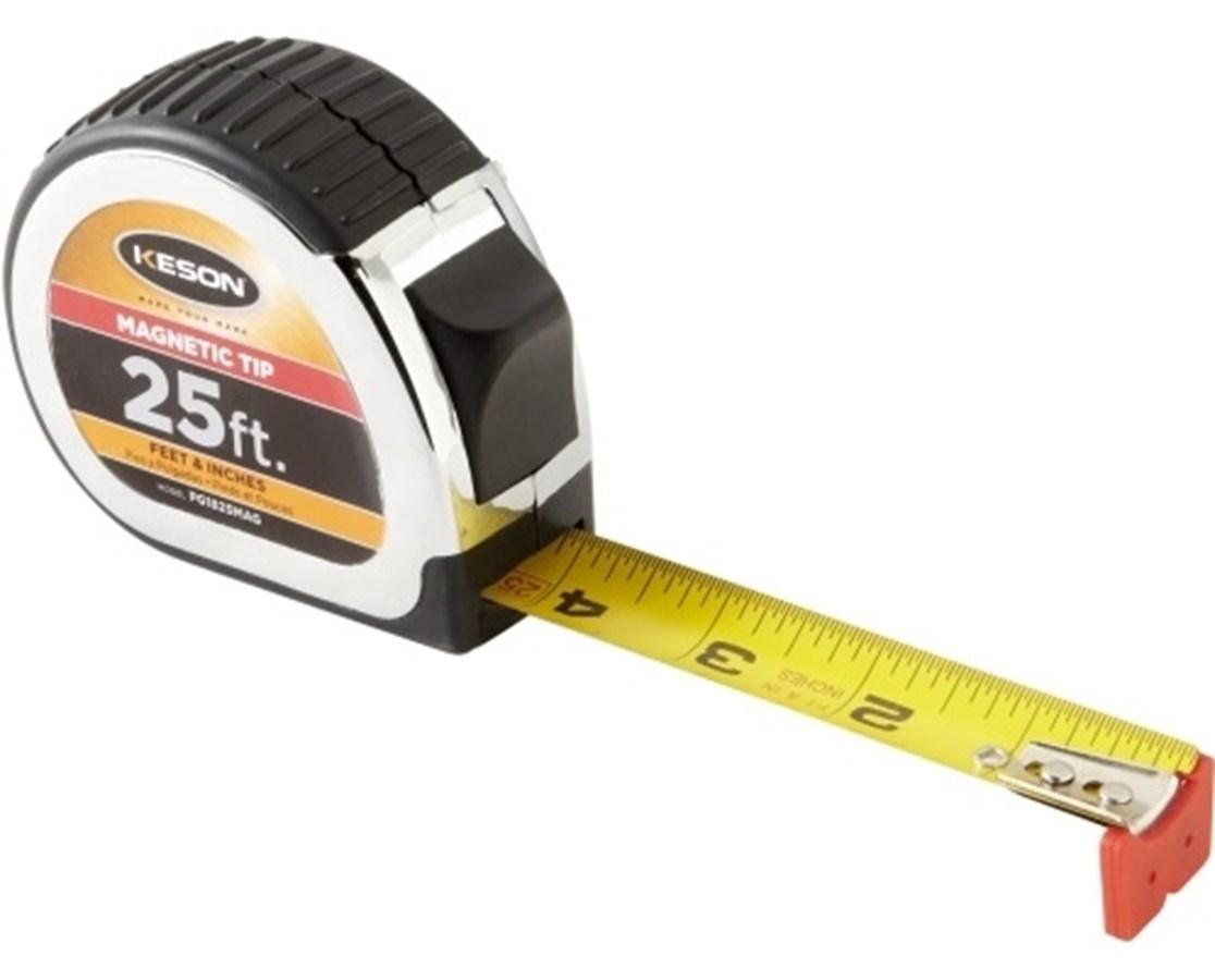 Keson 25 Feet Magnetic Tip Short Tape KESPG1825MAG-