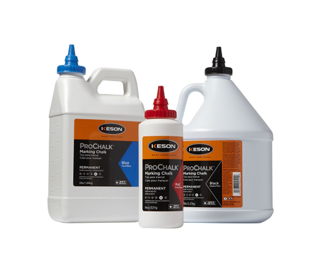 Keson Permanent Weatherproof Marking Chalk KESPM103BLACK-