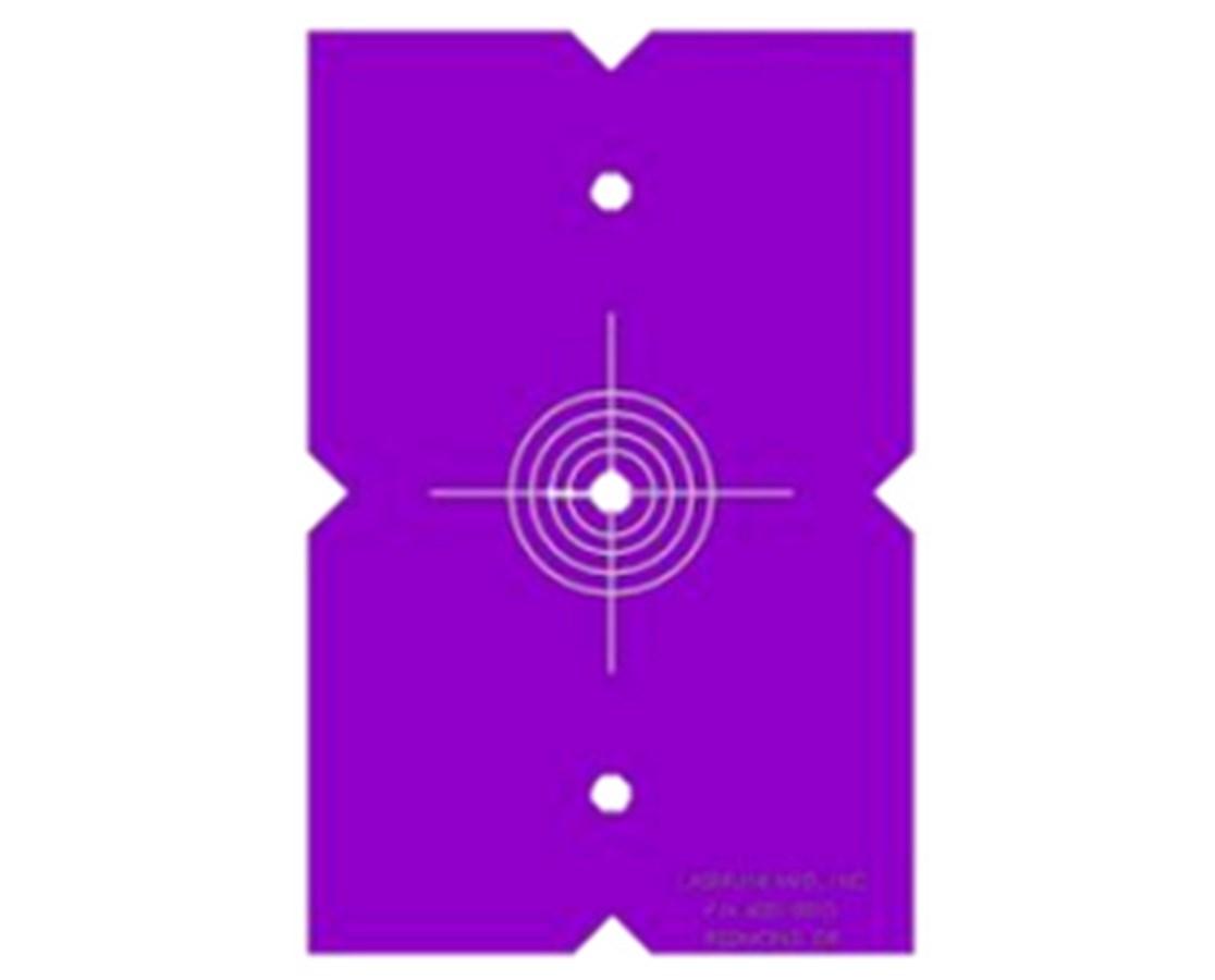 LaserLine Quad 1000 Target Template (2) LAS4001-0010