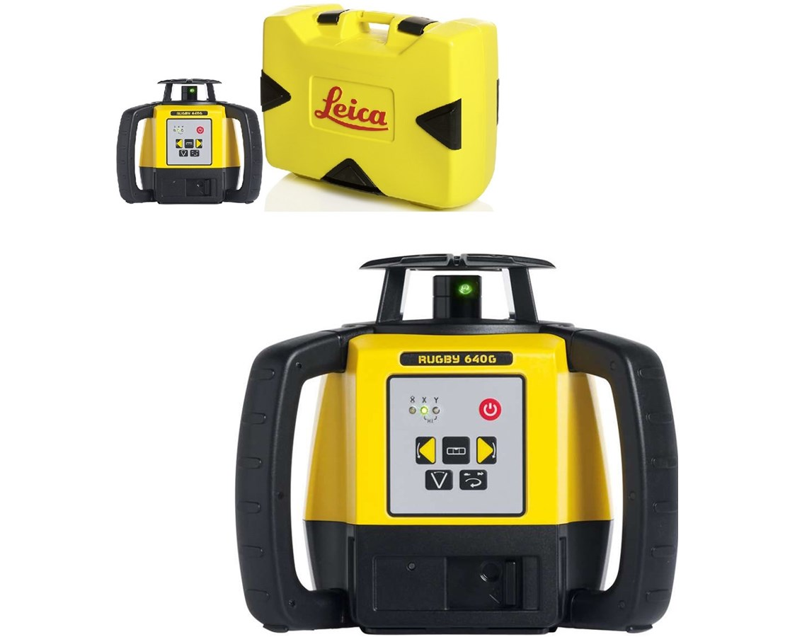 Leica Rugby 640G Green Beam Rotary Laser LEI845495-