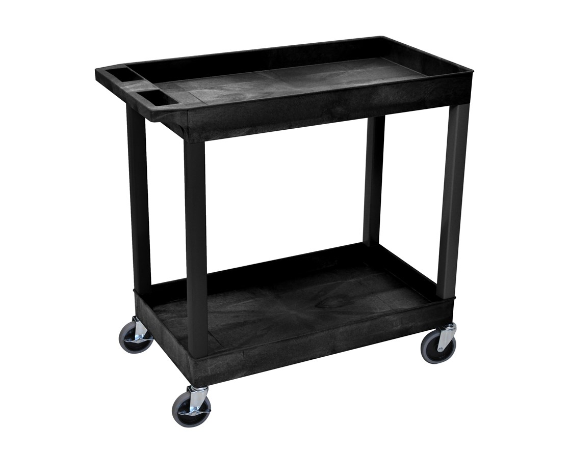 Luxor Utility Cart Two Tub Shelves LUXEC11