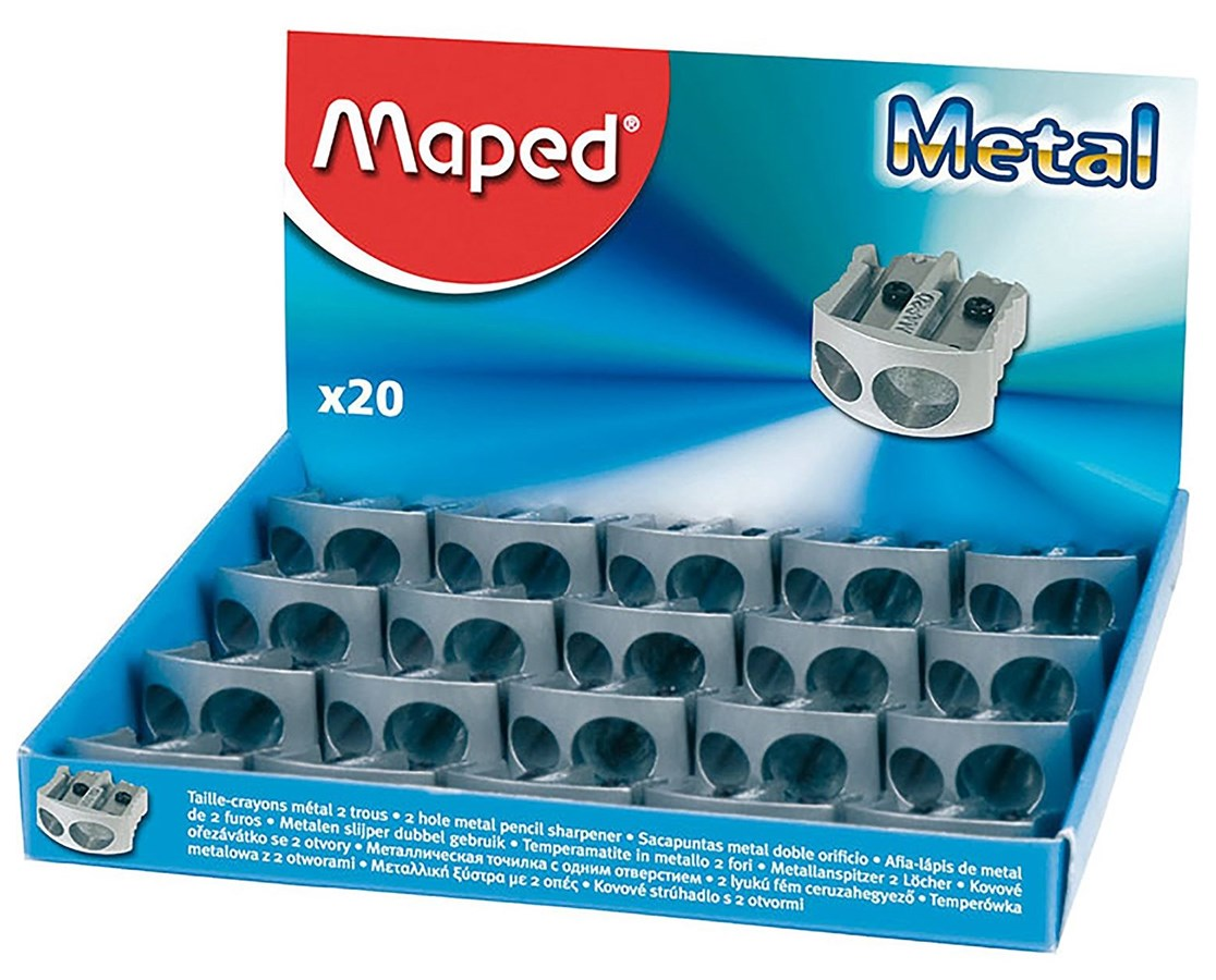 MAPED METAL DBL HOLE SHARPENER M006700