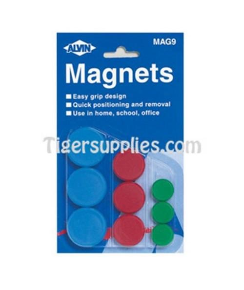 MAGNET ASSTMNT/9 3 SIZES MAG9
