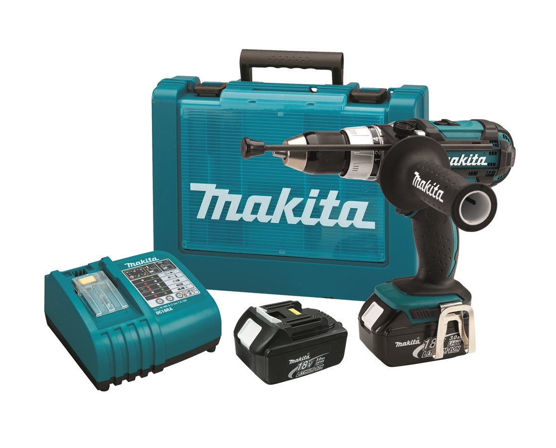 "Makita BHP454 18V LXT Lithium-Ion Cordless 1/2"" Hammer Driver-Drill Kit MAKBHP454"