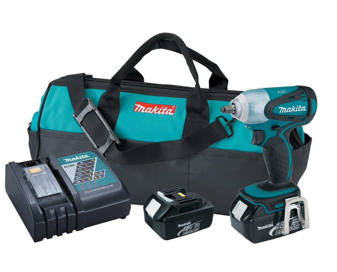 "Makita BTW253 18V LXT Lithium-Ion Cordless 3/8"" Impact Wrench Kit MAKBTW253"