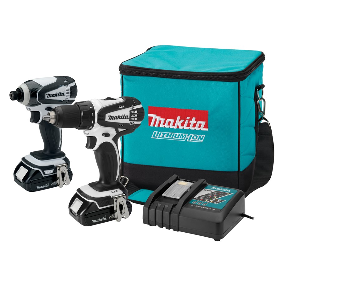 Makita LCT200W 18V Compact Lithium-Ion Cordless 2-Pc. Combo Kit LXFD01CW, BTD142HW MAKLCT200W