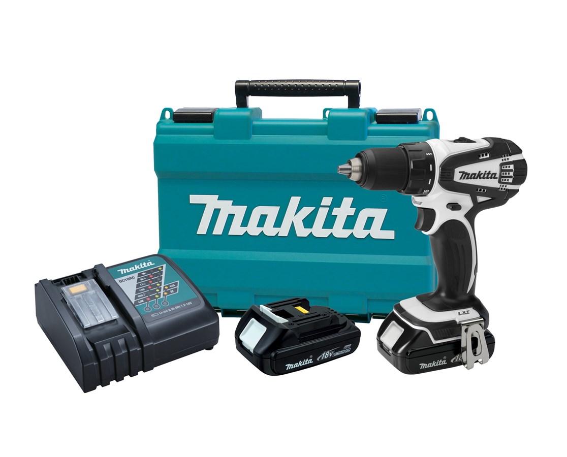 "Makita LXFD01CW 18V Compact Lithium-Ion Cordless 1/2"" Driver-Drill Kit MAKLXFD01CW"