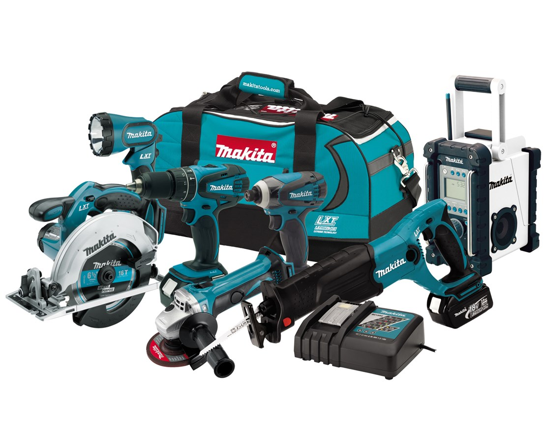 Makita LXT702 18V LXT Lithium-Ion Cordless 7-Pc. Combo Kit MAKLXT702
