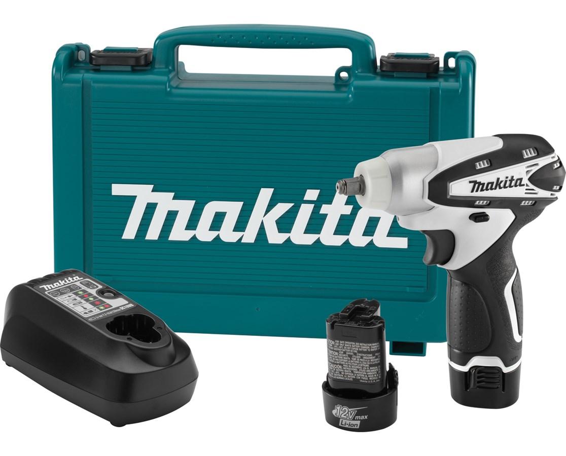 "Makita WT01W 12V Max Lithium-Ion Cordless 3/8"" Impact Wrench Kit MAKWT01W"