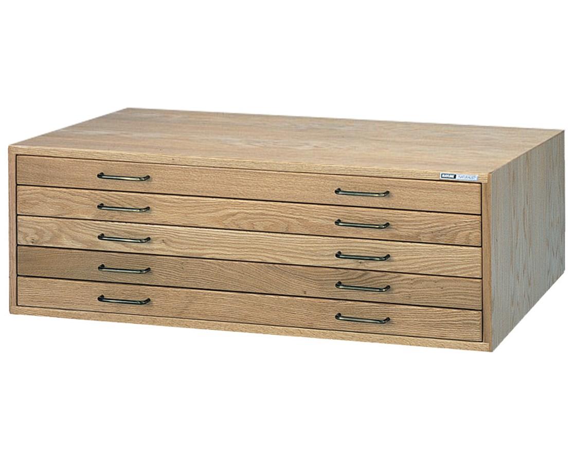 Mayline 5-Drawer Wood Plan File MAY7717C-