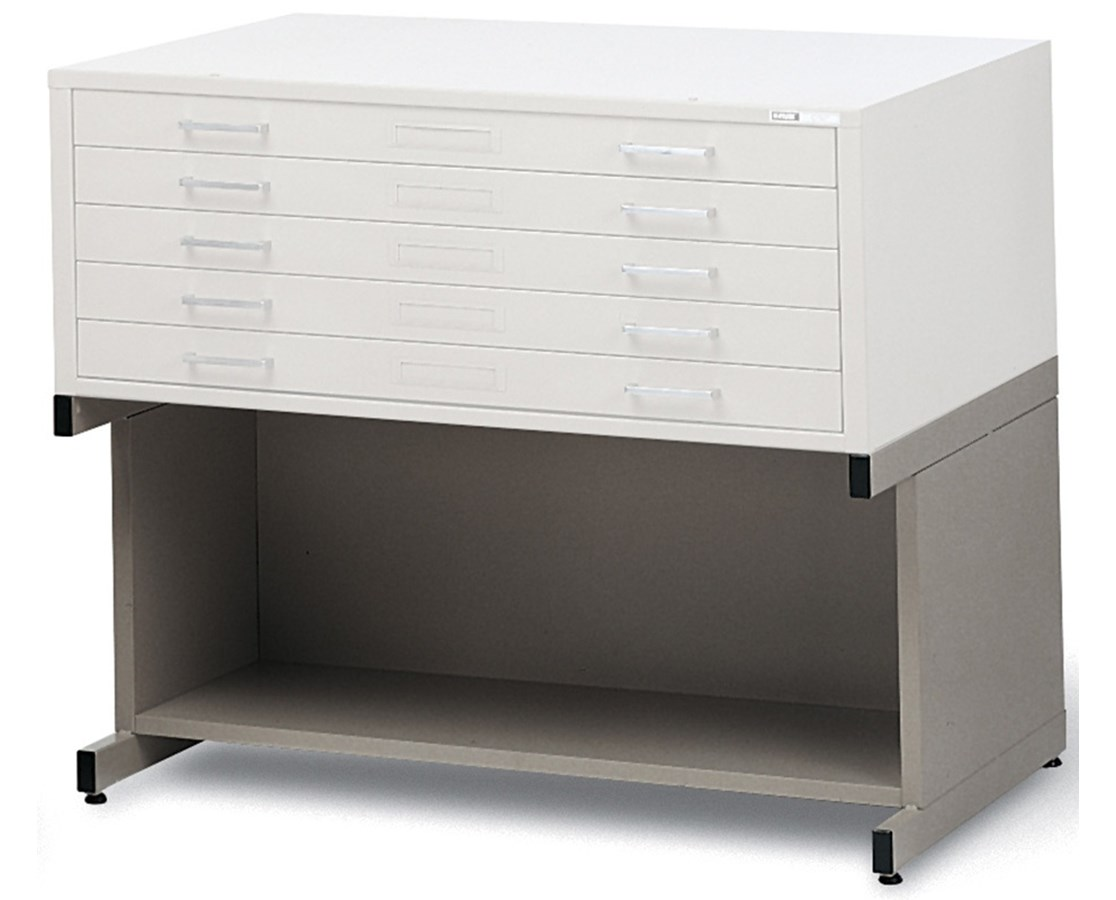Mayline High Base with Bookshelf for 30 x 42 Flat File 7878