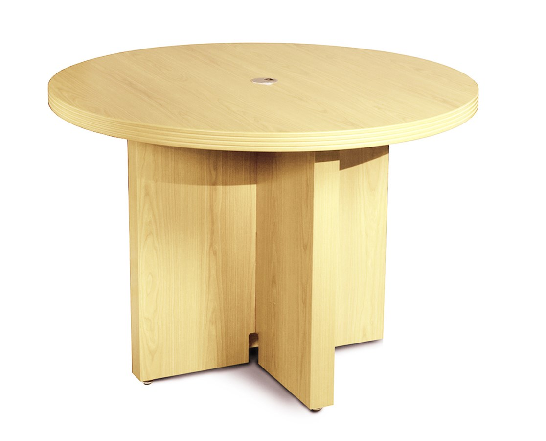 Mayline aberdeen series 42 round conference table tiger for Serie a table 99 00