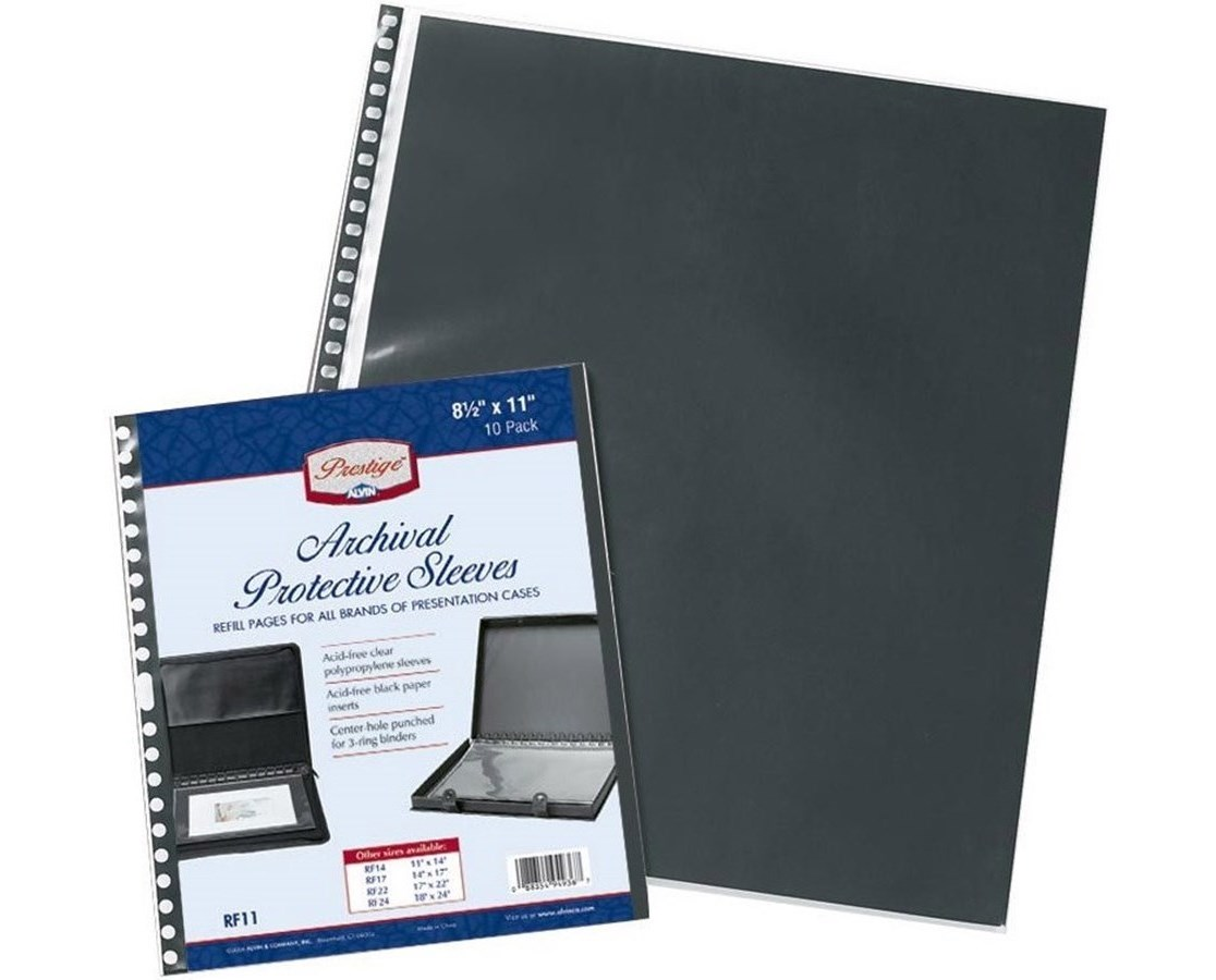ARCHIVAL REFILL PAGES 8.5 x 11 10/PK RF110