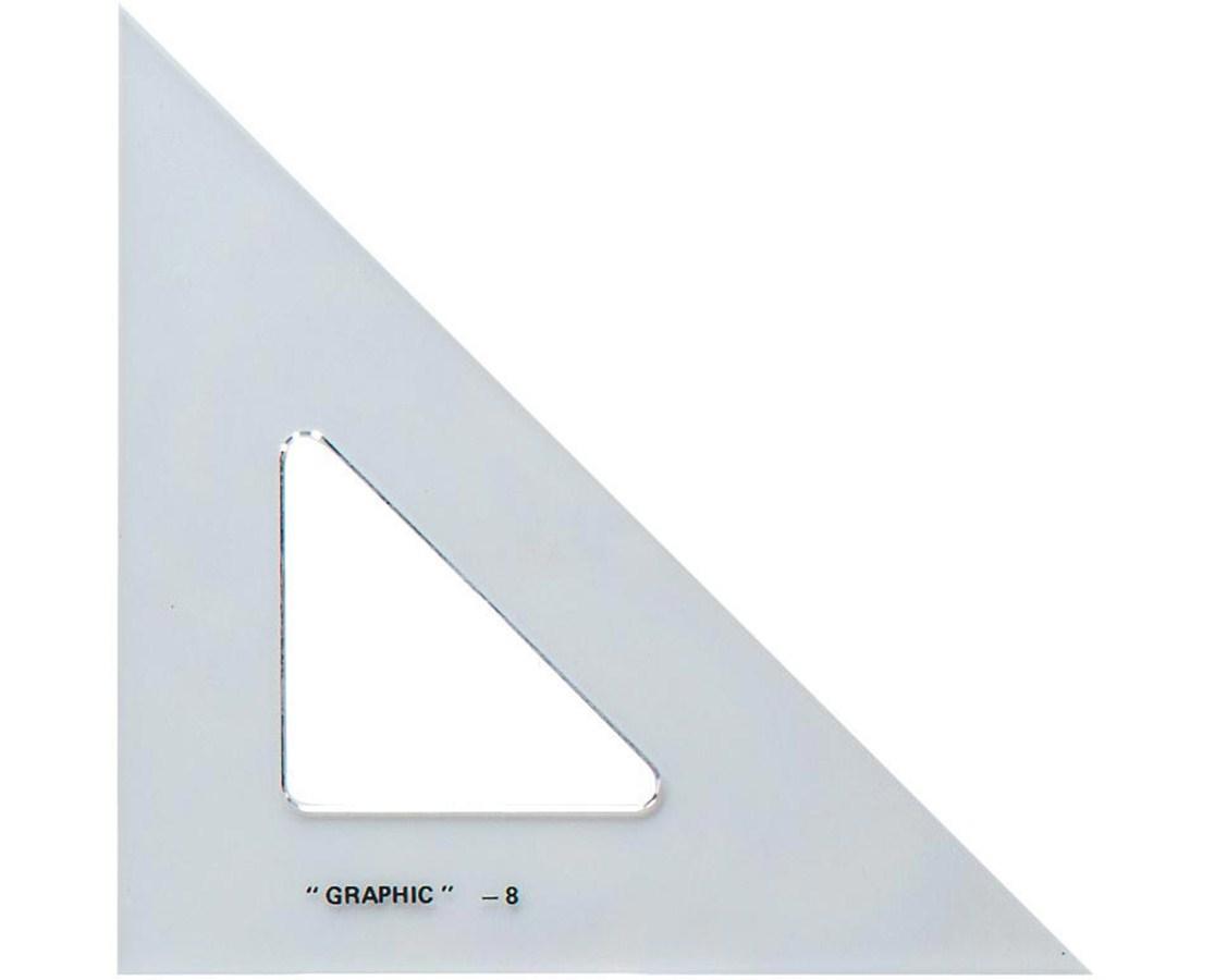 ALVIN Academic Transparent Triangles 45/90 4 S1450-40