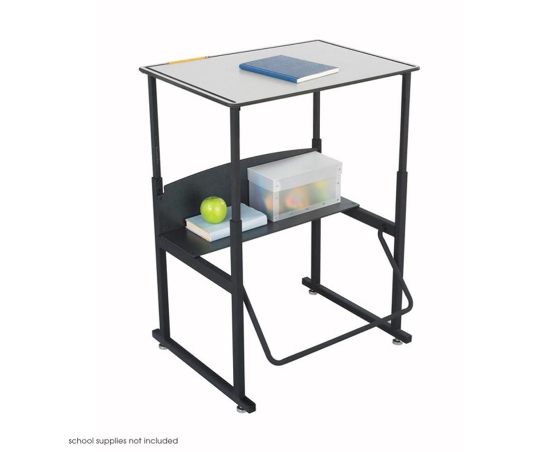 Safco AlphaBetter Adjustable-Height Stand-Up Desk, Premium Top and Swinging Footrest Bar SAF1203BE-