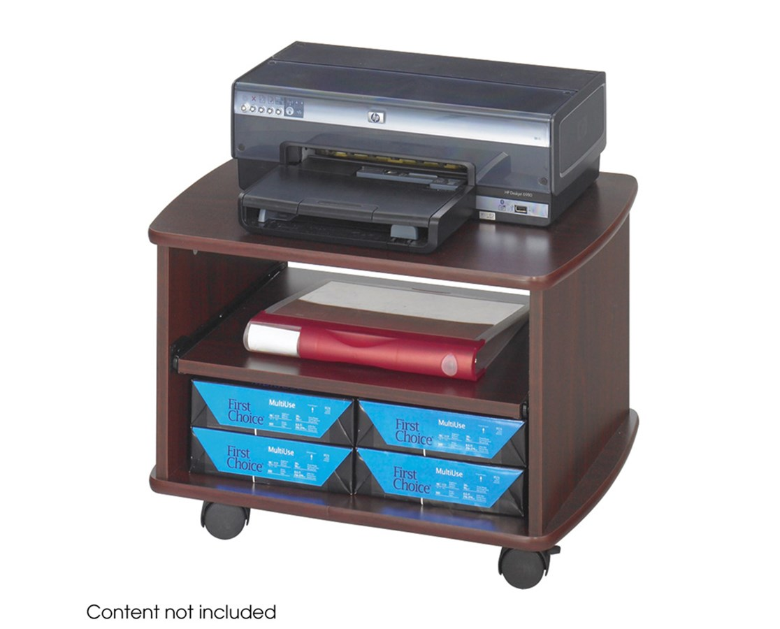 SAFCO1954MH-Picco™ Duo Printer Stand Mahogany SAF1954MH