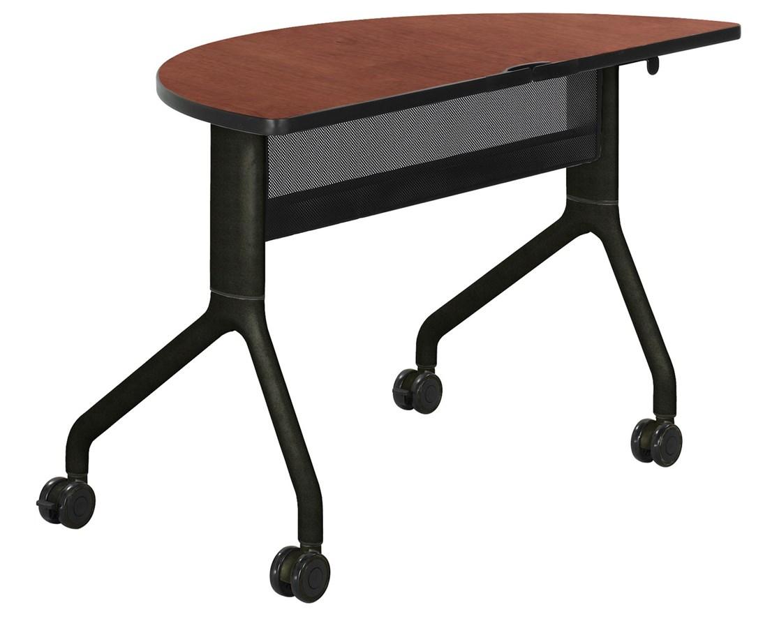 SAFCO2041-Rumba™ 48 x 24 Half Round Table SAF2041
