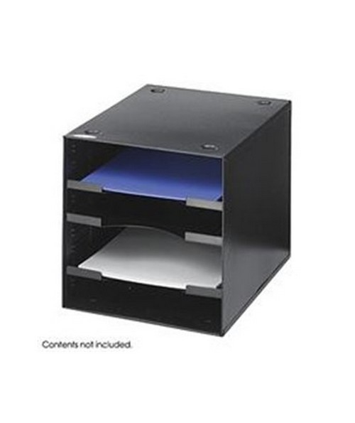 SAFCO3112BL-Steel Desktop Organizer, 4 Compartment SAF3112BL