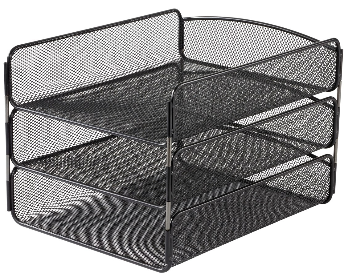 SAFCO Onyx™ Triple Tray Black SAF3271BL