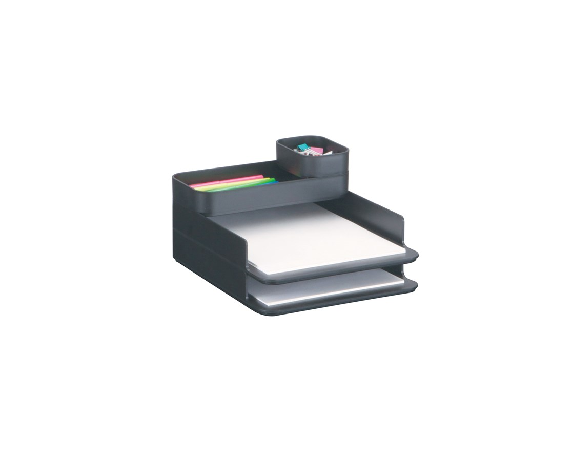 Safco Stacking Plastic Desktop Sorter Set SAF3285BL
