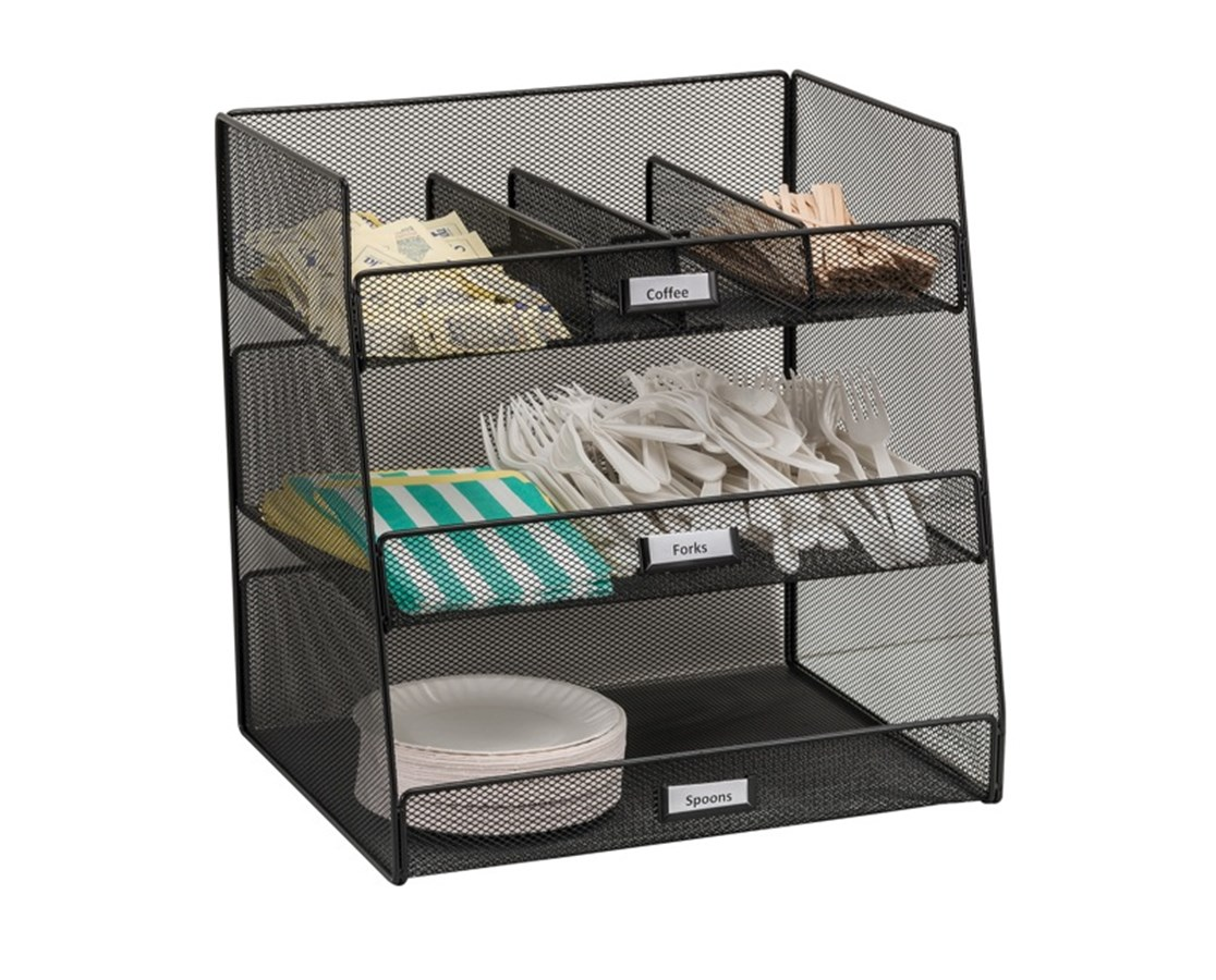 Safco Onyx Break Room Organizer SAF3293BL