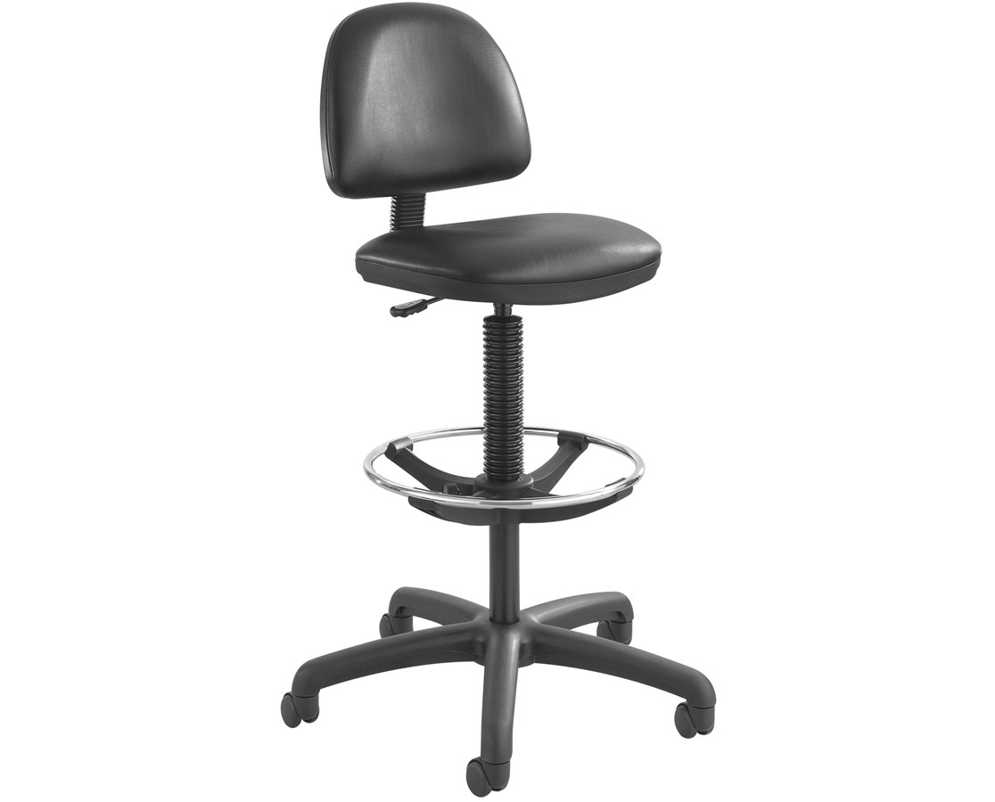 Safco Precision Vinyl Drafting Chair with Footring SAF3406