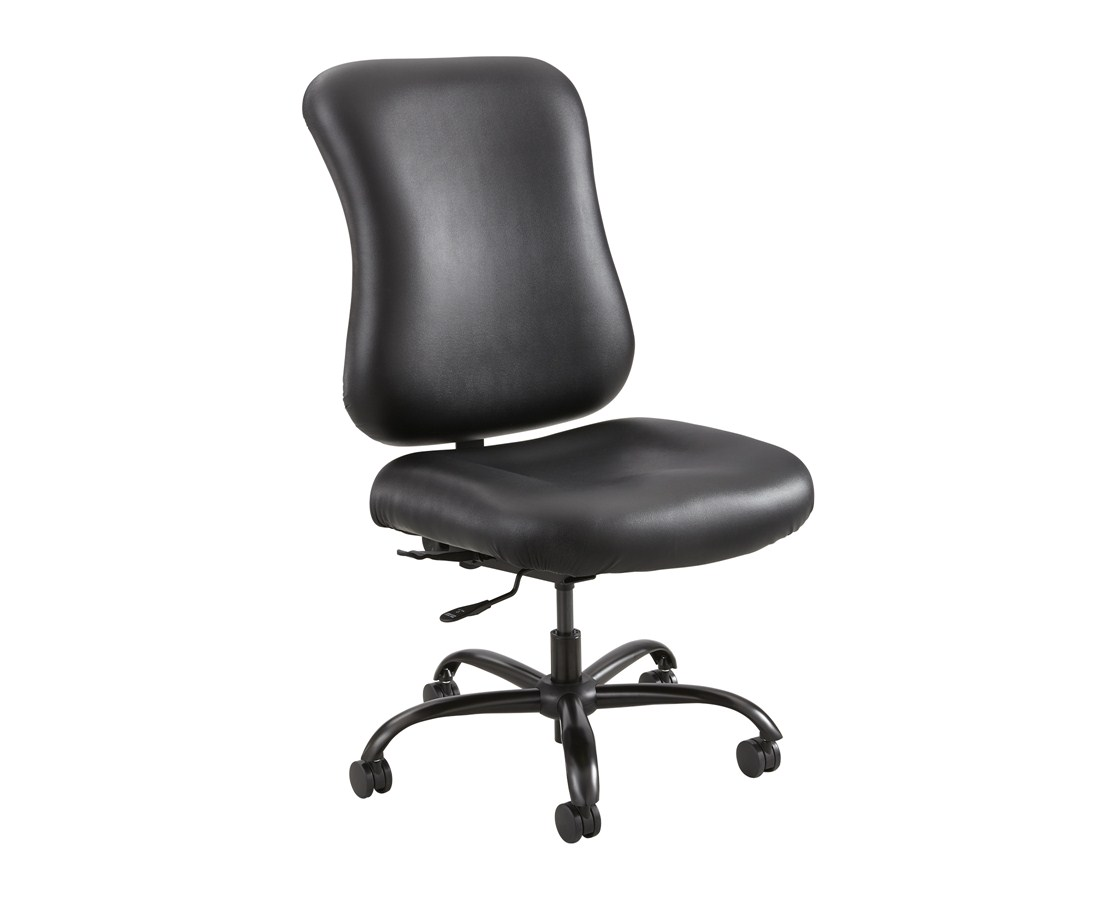 Safco Optimus Big and Tall Chair Black Vinyl 3592BL